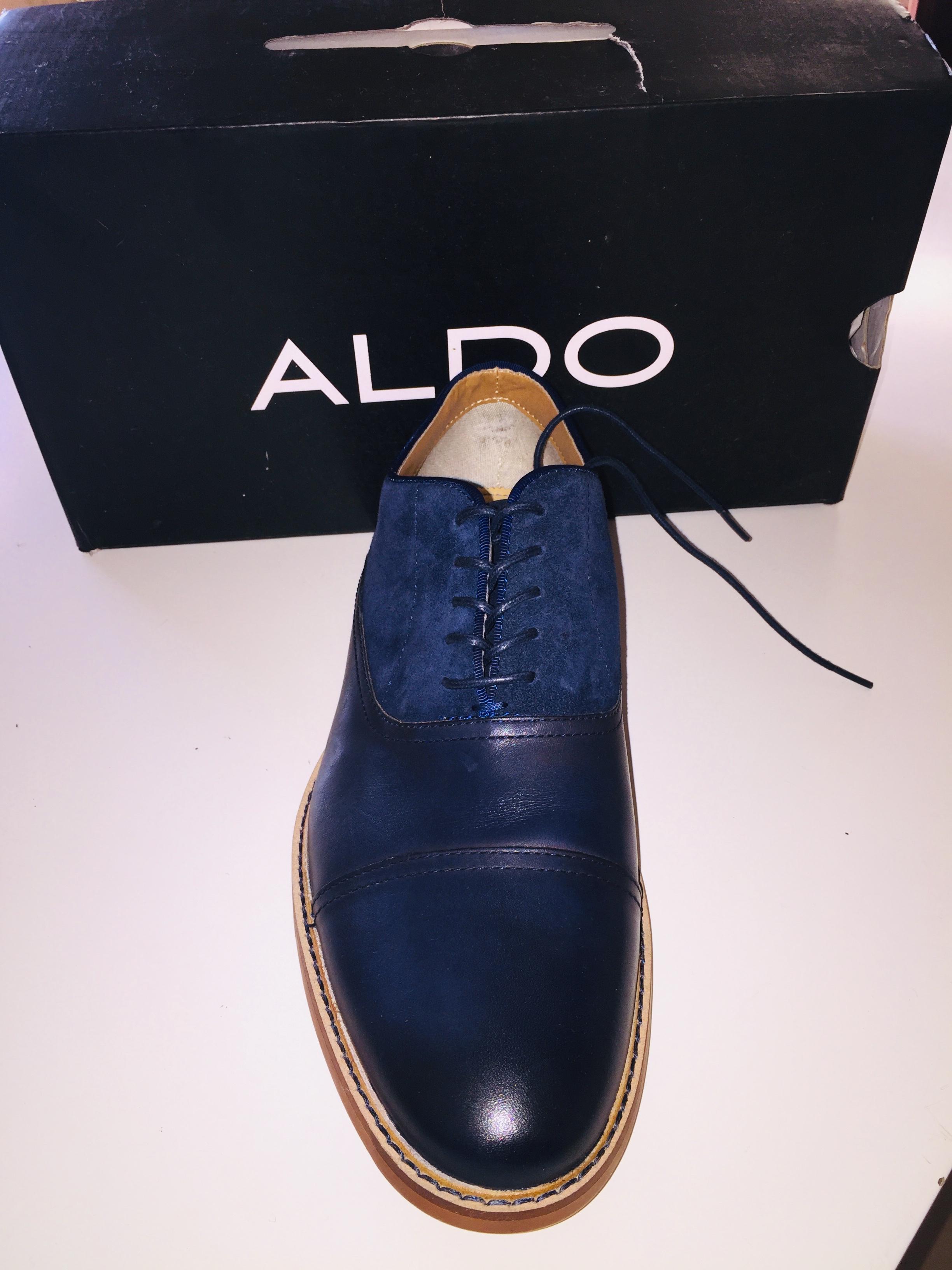De Classe Izideals Cuir Wx07y Bleu Chaussures Nuit Aldo Daim Marque 3q45LARj